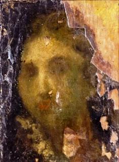 Lukisan Karya Trubus Soedarsono dengan tema Potret Wanita