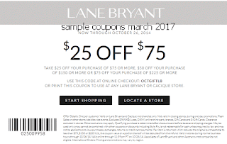 Lane Bryant coupons march