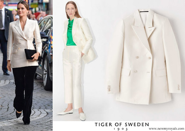Princess Sofia wore Tiger of Sweden Desert Blazer