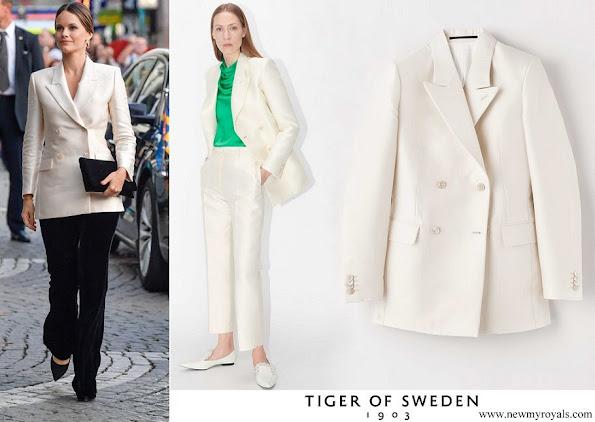 Princess Sofia wore Tiger of Sweden Desert Blazer