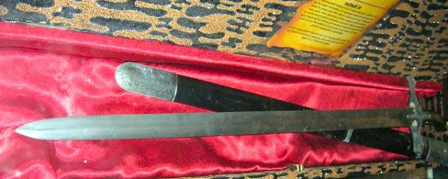 Gambar Senjata Tradisional Pedang Jambi