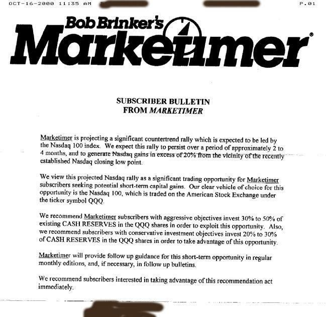 Honeys Bob Brinker Beehive Buzz December 27 2011 Qqq Bob