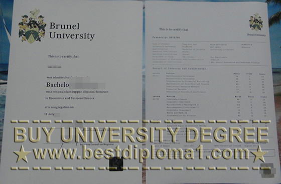 Brunel University fake diploma & Academic Transcript