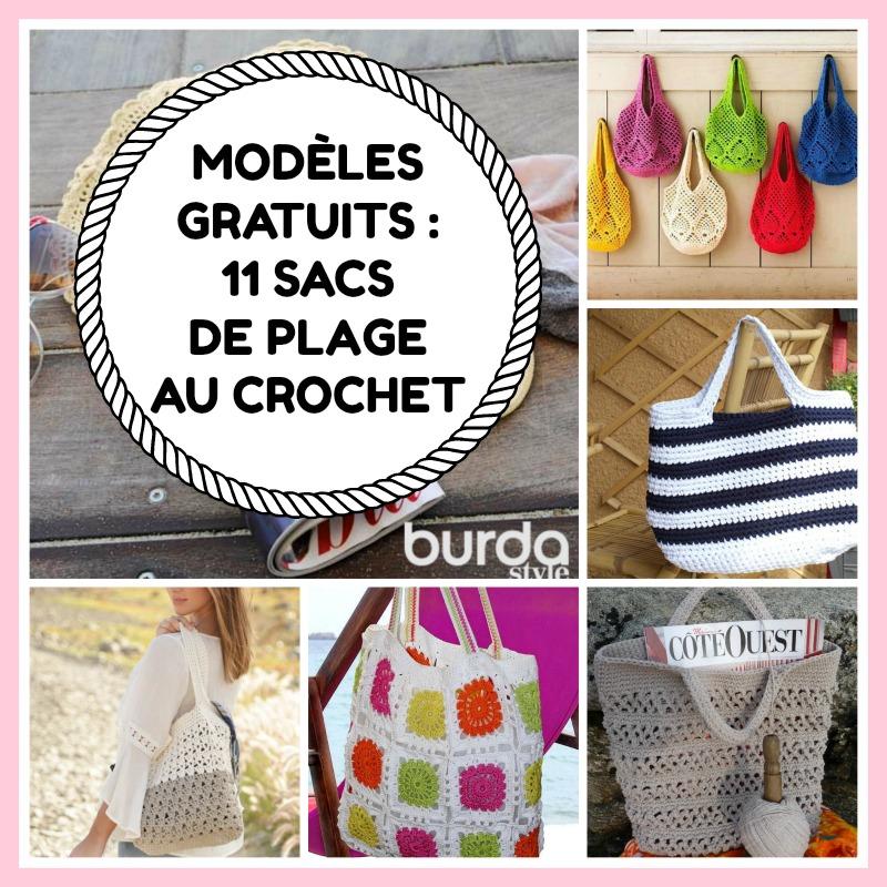 Mes Favoris Tricot Crochet Modeles Gratuits 11 Sacs De Plage Au Crochet