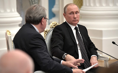 President Putin at a meeting with members of Civic Chamber of the Russian Federation.