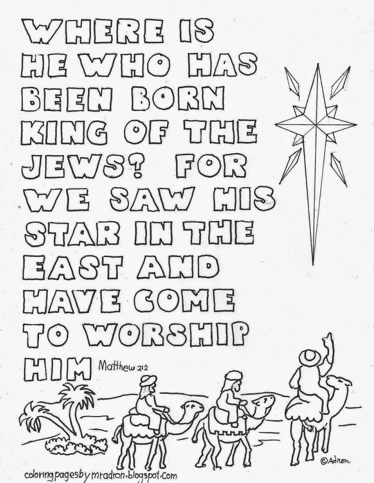 Coloring Pages For Kids By Mr Adron Christmas Star With
