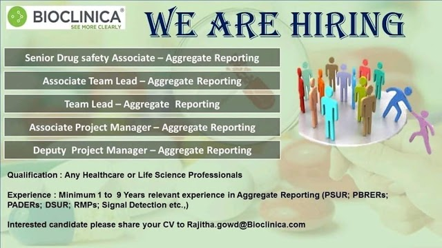 Bioclinica - Opening for Multiple Job Positions