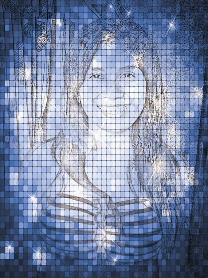 efeito mosaico