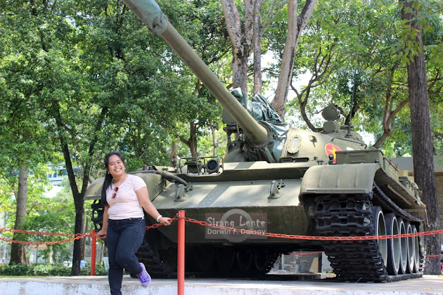 Thessaly Dalisay at the Tank of Vietnam War