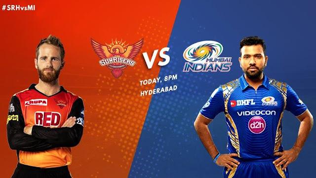 SRH vs MI IPL 2018 Live Streaming
