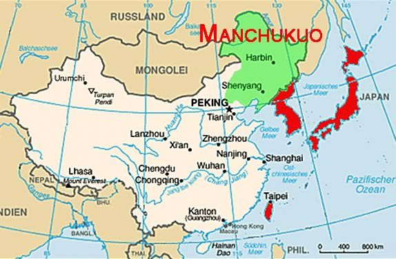 Map of Manchukuo