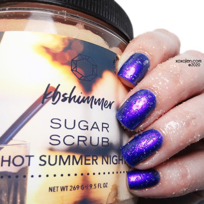 xoxoJen's swatch of KBShimmer Summer Nights sugar scrub