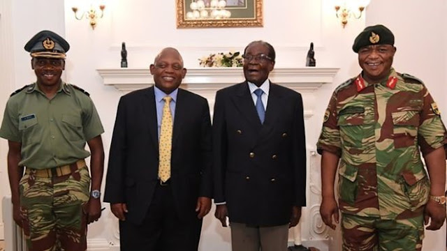 Robert Mugabe pictured for first time since Zimbabwe's military takeover