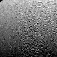 The north pole of Enceladus
