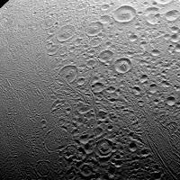 The north pole of Enceladus