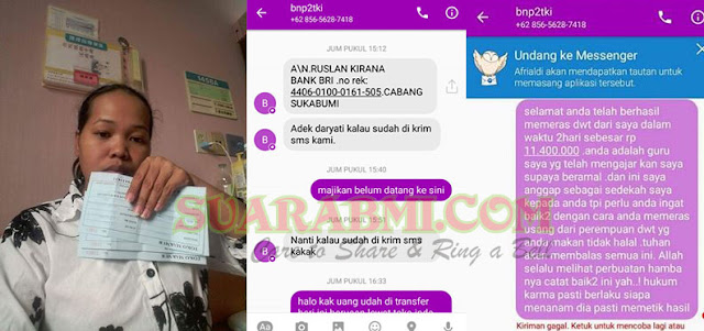 Dijanjikan Dana 100 Juta, TKW Ini Tertipu Hingga Belasan Juta Oleh Oknum yang Mengaku Dari BNP2TKI