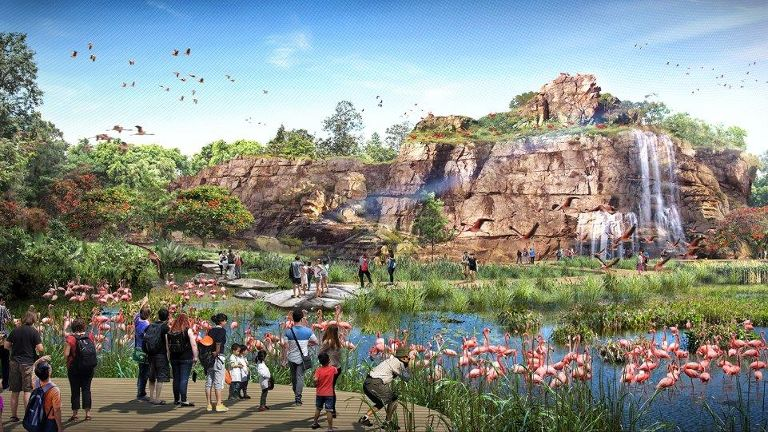 Details revealed about new Bird Park and Rainforest Park as construction phase is launched.