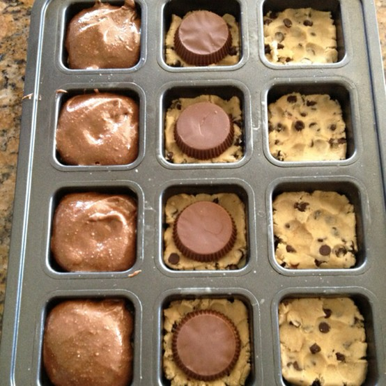 Chocolate Chip Reeses Or Rollos Brownie Thingys