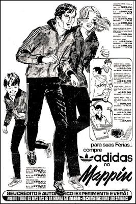 propaganda Adidas anos 70; moda esportiva decada de 70; moda anos 70; propaganda anos 70; história da década de 70; reclames anos 70; brazil in the 70s; Oswaldo Hernandez