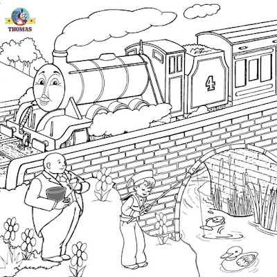 Thomas tank the train Gordon coloring express steam engine portrait to color free printable clipart
