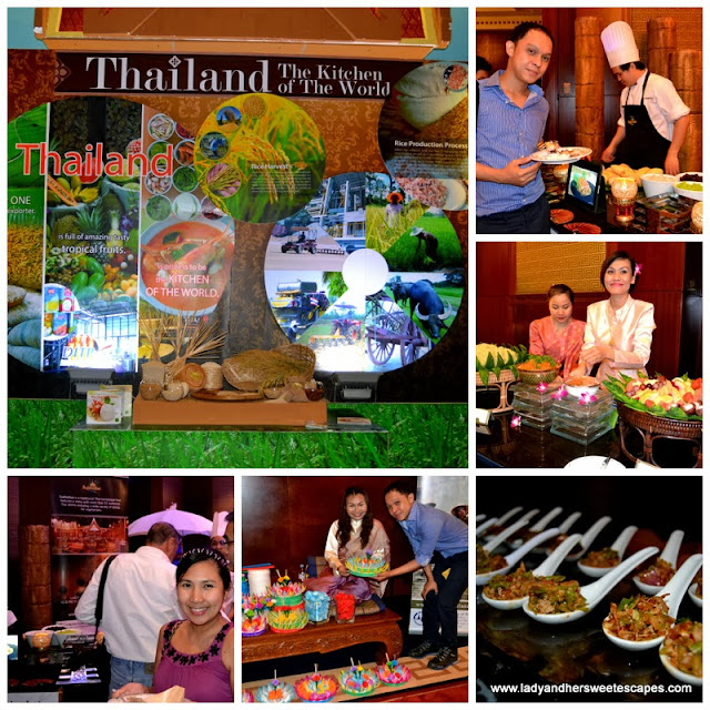 Lady and Bien at the launching of Thai Food Fest at Dusit Thani
