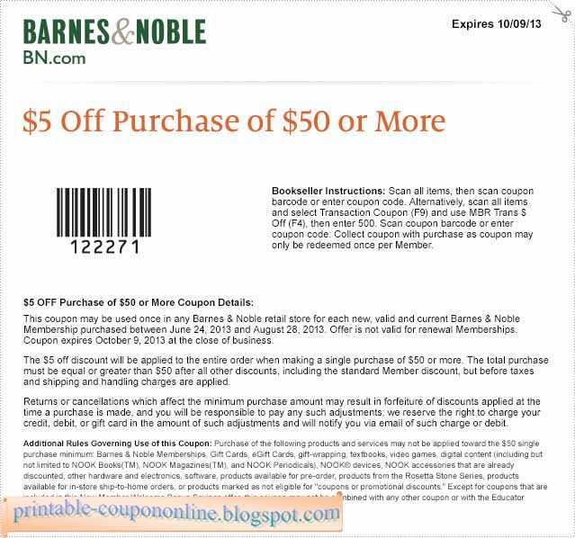 Also get today's free printable coupons for Barnes & Noble Starbucks cafés. BN also hosts various book signing, story telling and holiday events! Browse in store and see what's new. How to Use a Barnes and Noble Coupon Code Online. Add desired item(s) to the shopping bag. Click the shopping bag icon on .