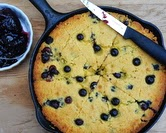 July - Summer Corn Bread with Fresh Blueberries