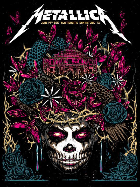 Inside The Rock Poster Frame Blog Metallica San Antonio