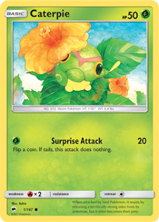 Caterpie Burning Shadows Pokemon Card