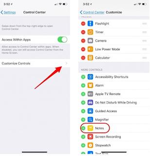 Cara Menulis Notes / Catatan Langsung dari Layar yang Terkunci di iPhone