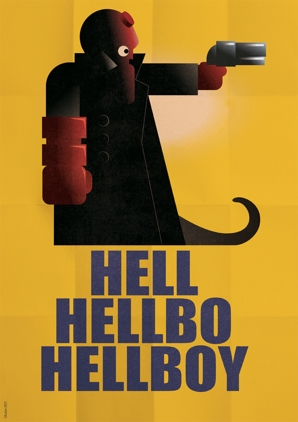 Hellboy Art Deco
