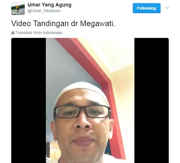 Keren Nih... Video Tandingan Untuk Megawati: Kita Tidak Pilih Pemimpin yang Suka Menista Agama