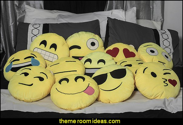 Soft Plush Emojee throw pillows
