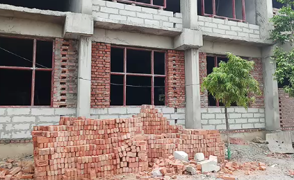 The government gives full money, the contractor is putting the substandard material in the school building;