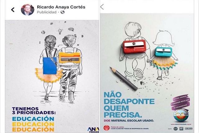 Acusan a Anaya de piratearse  campaña de Brasil