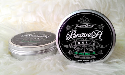 Premium Quality Pomade Braver Deluxe Medium Water Based Green 4oz