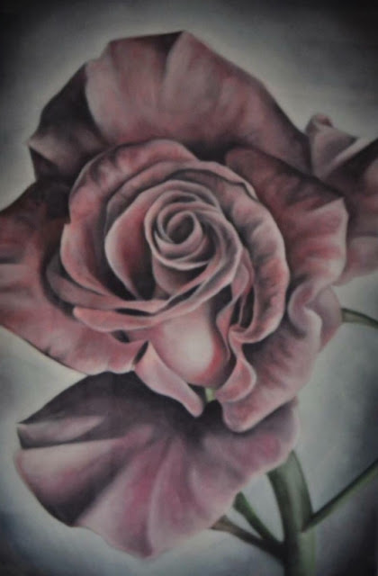 shane drkm rose, oil painting, painting