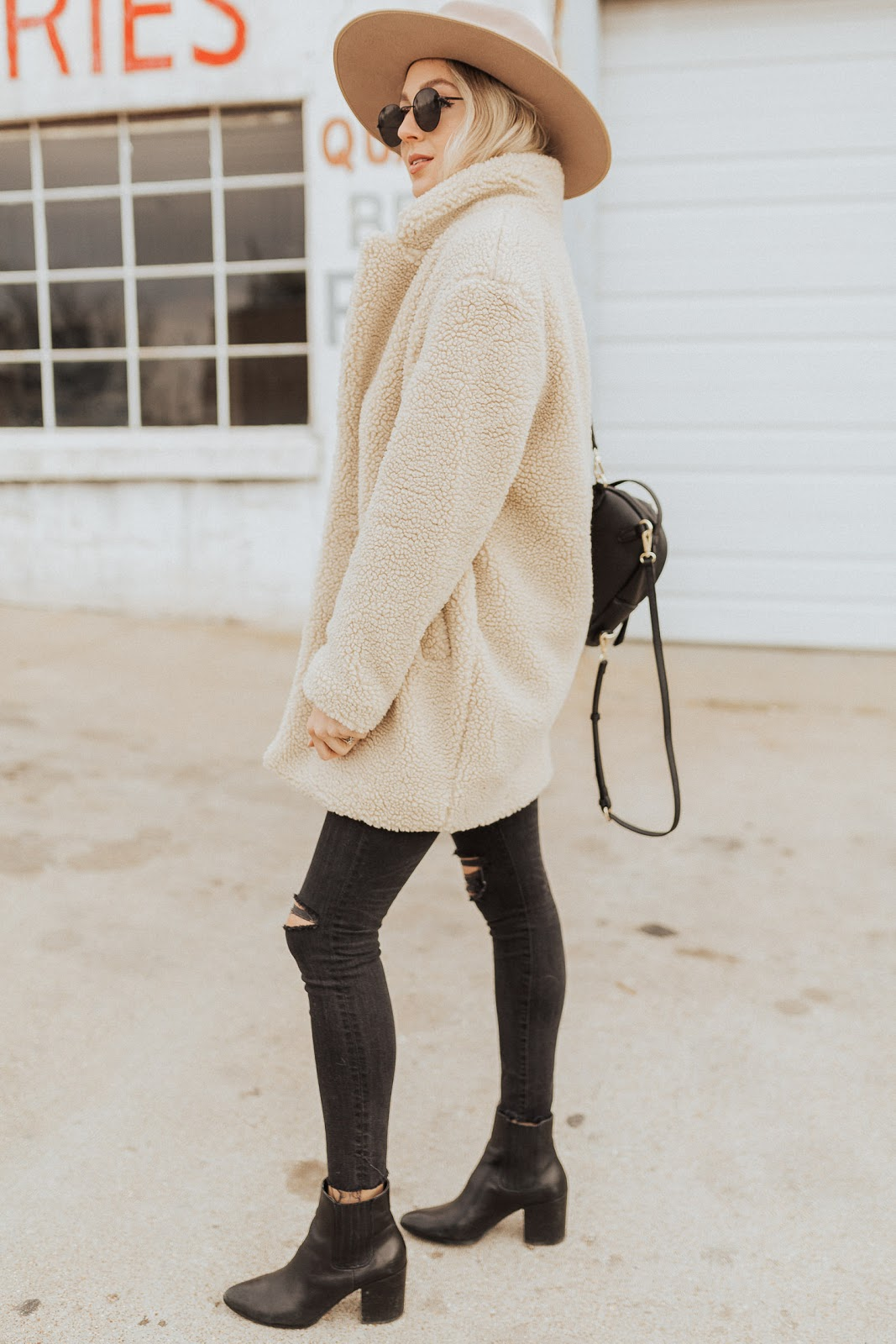 cozy teddy coat for winter
