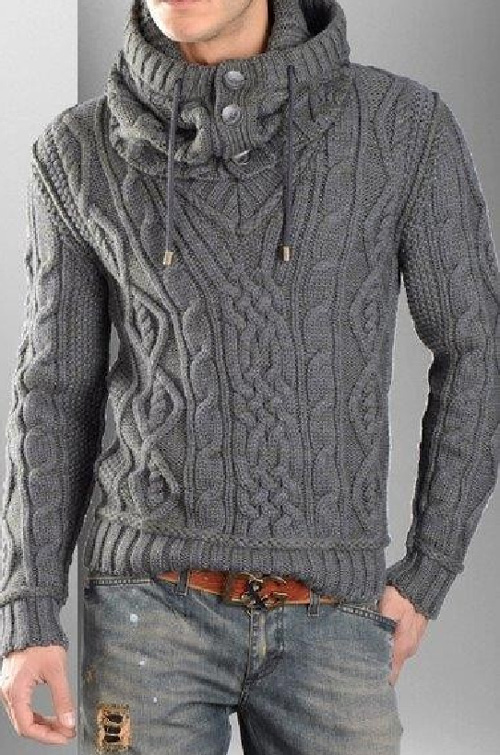 Pullover V Neck with Hood‬‏ - Free Pattern