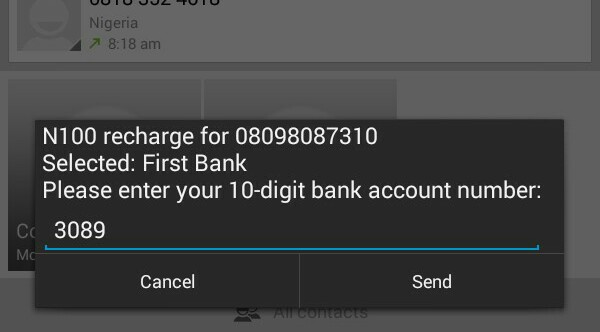 First Bank USSD Code To Topup Airtime Credit