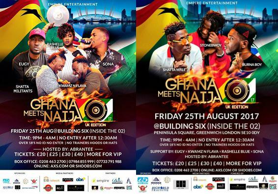 RigWorld, MenzGold, uniBank, British Airways Support Ghana Meets Naija UK Event