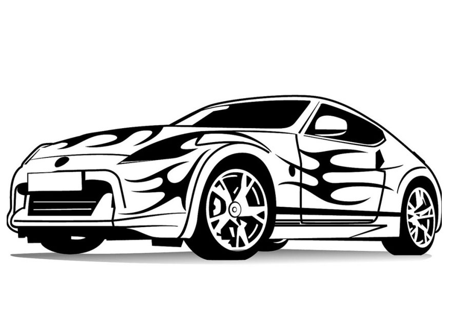 Download Sports Car Coloring Pages