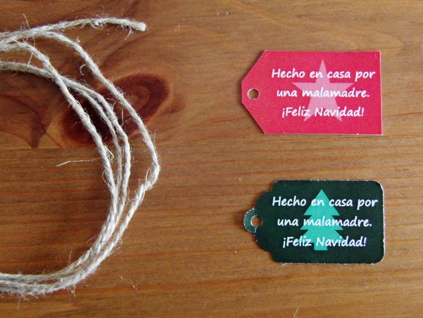 Etiquetas descargables para Navidad