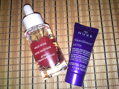 Korres Wild Rose Face Oil and Nuxe Nuxellence Detox