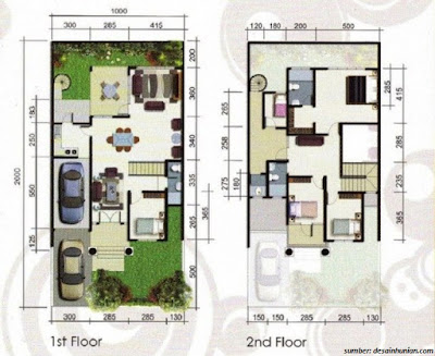29 Gambar Model Denah Rumah 4 Kamar Sederhana dan Minimalis