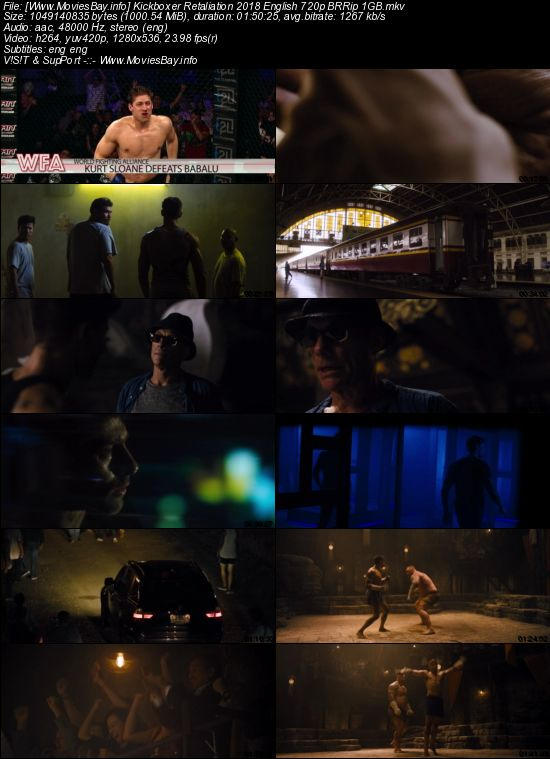 Kickboxer Retaliation 2018 English 720p BRRip 1GB worldfree4u