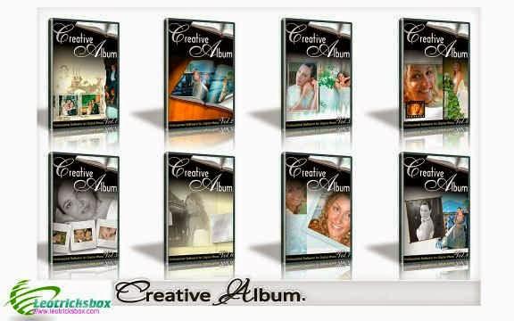 PhotoShop Templates : Creative Album Templates, Wedding 12 Series FULL