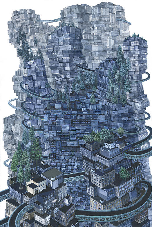 17-Solid-Amy-Casey-Fantastical-Architectural-Paintings-of-Real-Life-Buildings-www-designstack-co