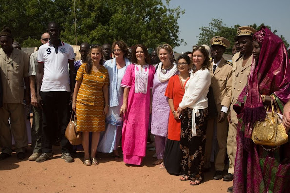 Crown Princess Mary of Denmark visits to Senegal with organizations Orchid Project and Tosta