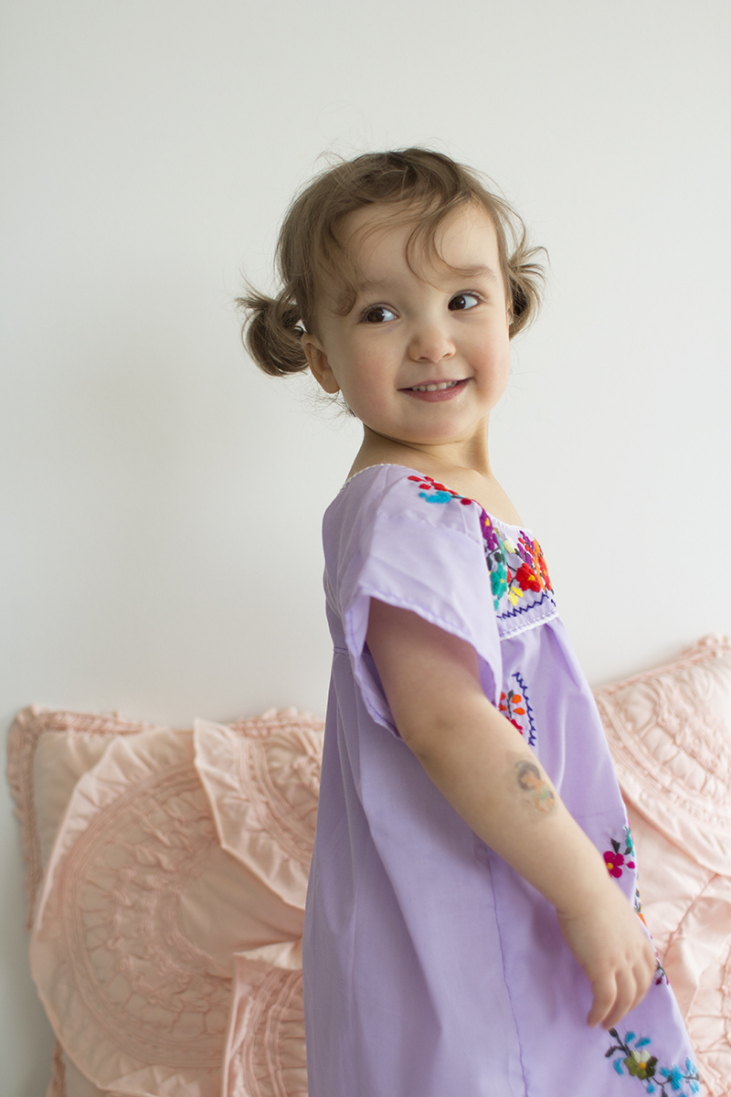 Embroidered little girls dress